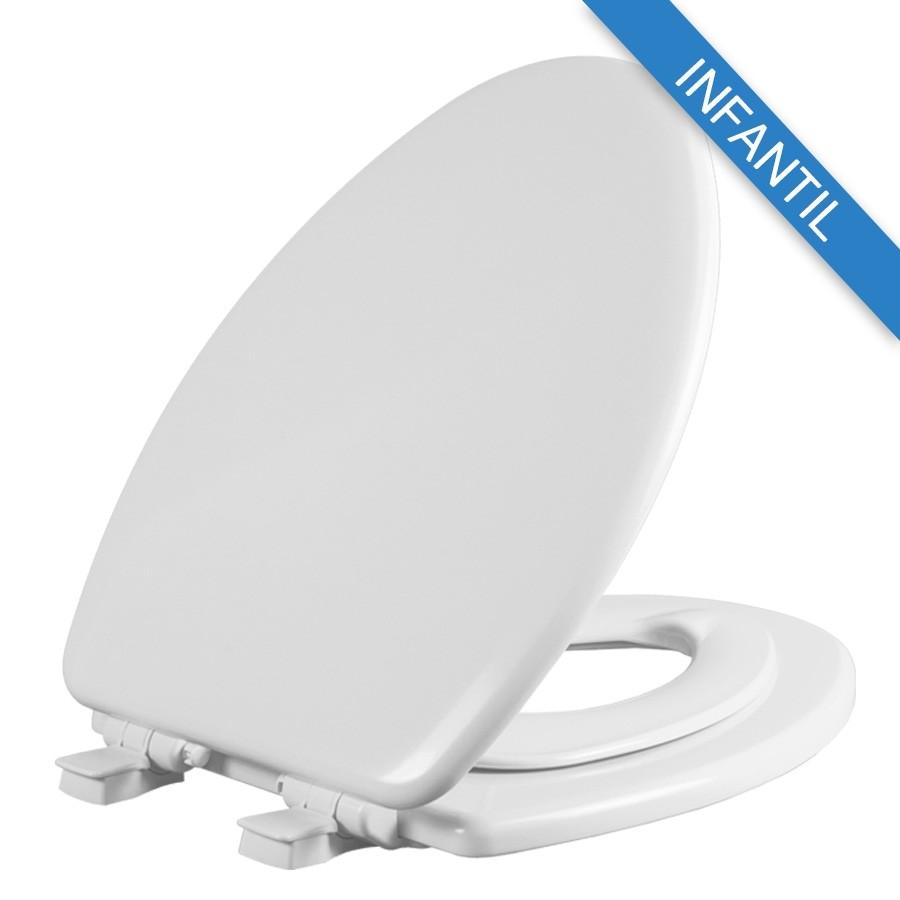 Asiento para baño con Adaptador Infantil NextStep® alargado color blanco de Madera