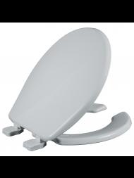 Asiento para baño redondo color blanco de plástico con Fácil Limpia & Cambia™ y Cierre Lento