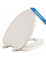 Asiento para baño con adaptador infantil NextStep® alargado color hueso de Madera