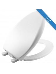 Asiento para Baño Alargado con Luz iLumaLight™ Color Blanco de Plástico
