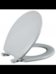 Asiento para baño redondo color blanco de Madera con Fácil Limpia & Cambia™ y Cierre Lento
