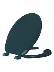 Asiento para baño color verde de plástico redondo con Bisagras Ajustables