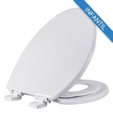 Asiento para baño con Adaptador Infantil PequePlus® alargado color blanco de Plástico