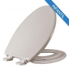 Asiento para baño con Adaptador Infantil PequePlus® alargado color hueso de Plástico